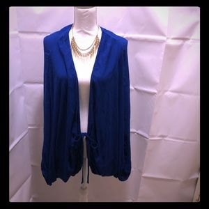 NWT Forever 21 Royal blue cape cardigan super nice